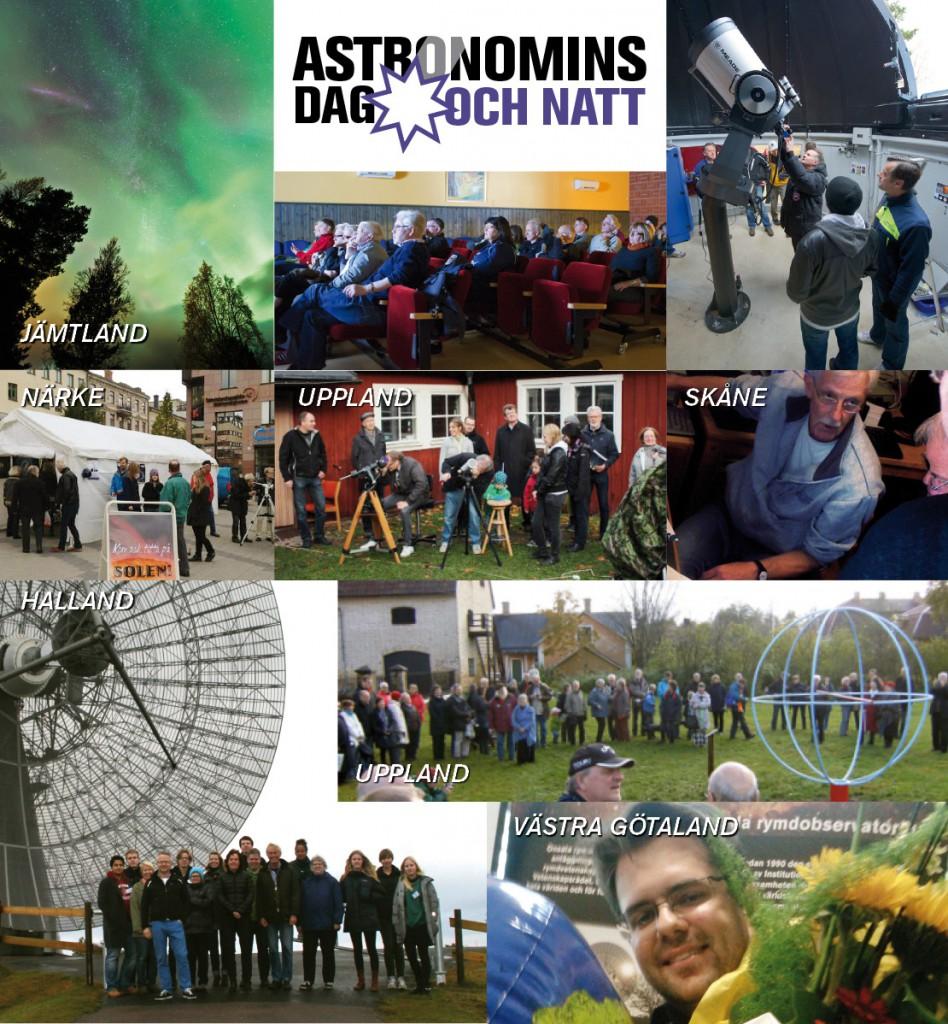 Foton: Göran Strand, Ulf Jonsson, Kjell Olauson, Uppsala AmatörAstronomer, Astronomiska Sällskapet Tycho Brahe, Hans Mühlen, Klara Räftegård, James Dresch, Robert Cumming.