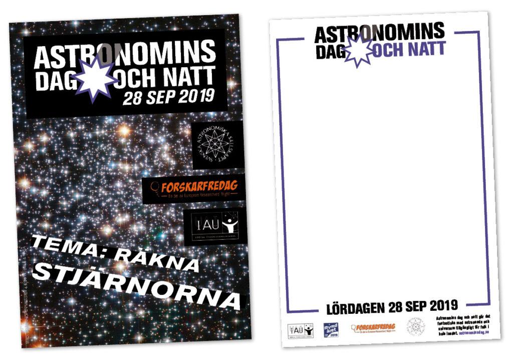 affischer Astronomins dag