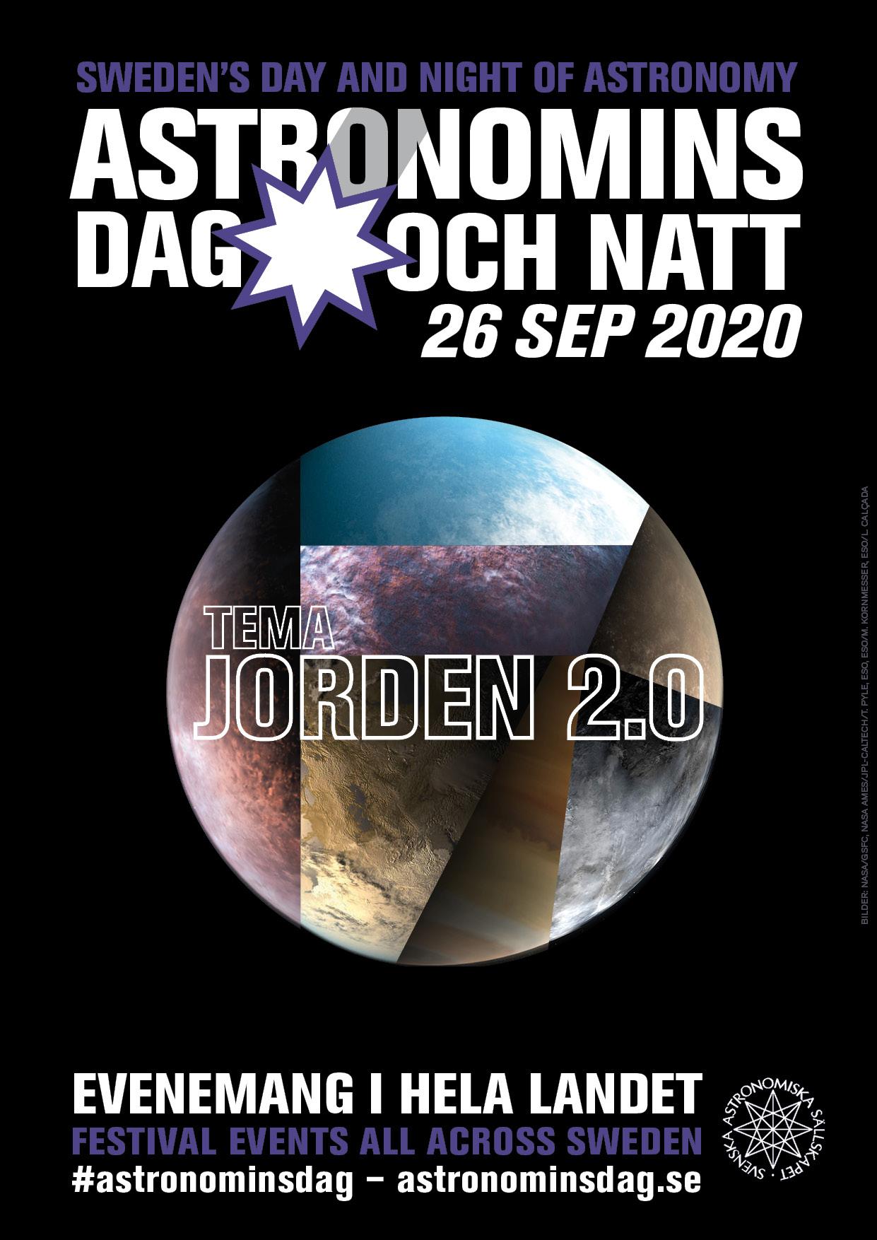 Astronomins dag och natt 2020, tema Jorden 2.0