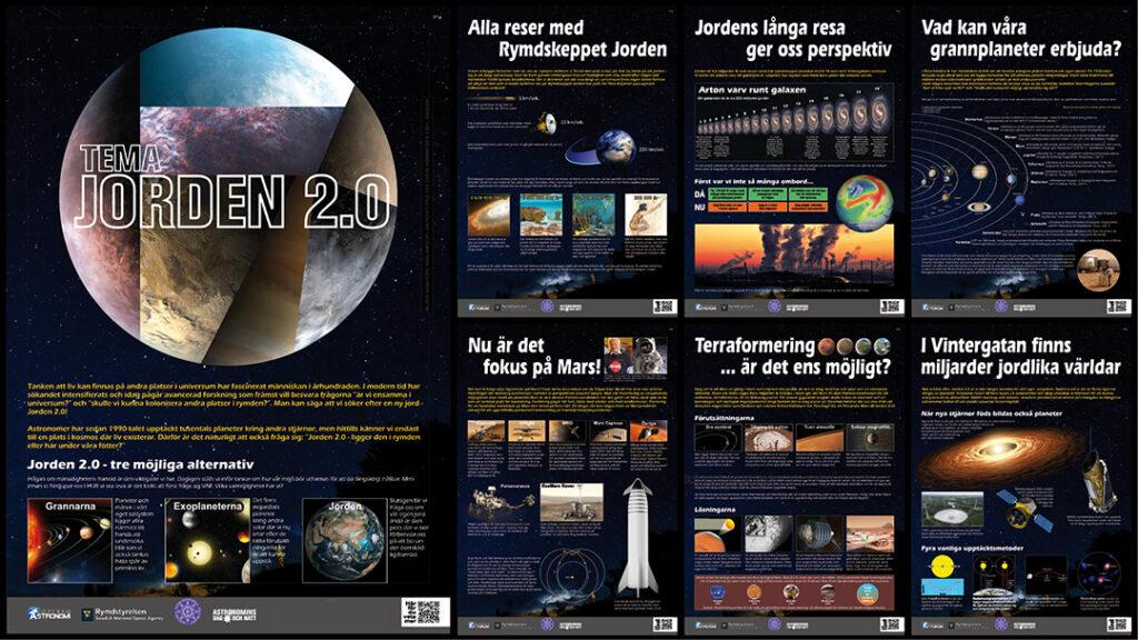 Utställning Jorden 2.0: exempel på planscher