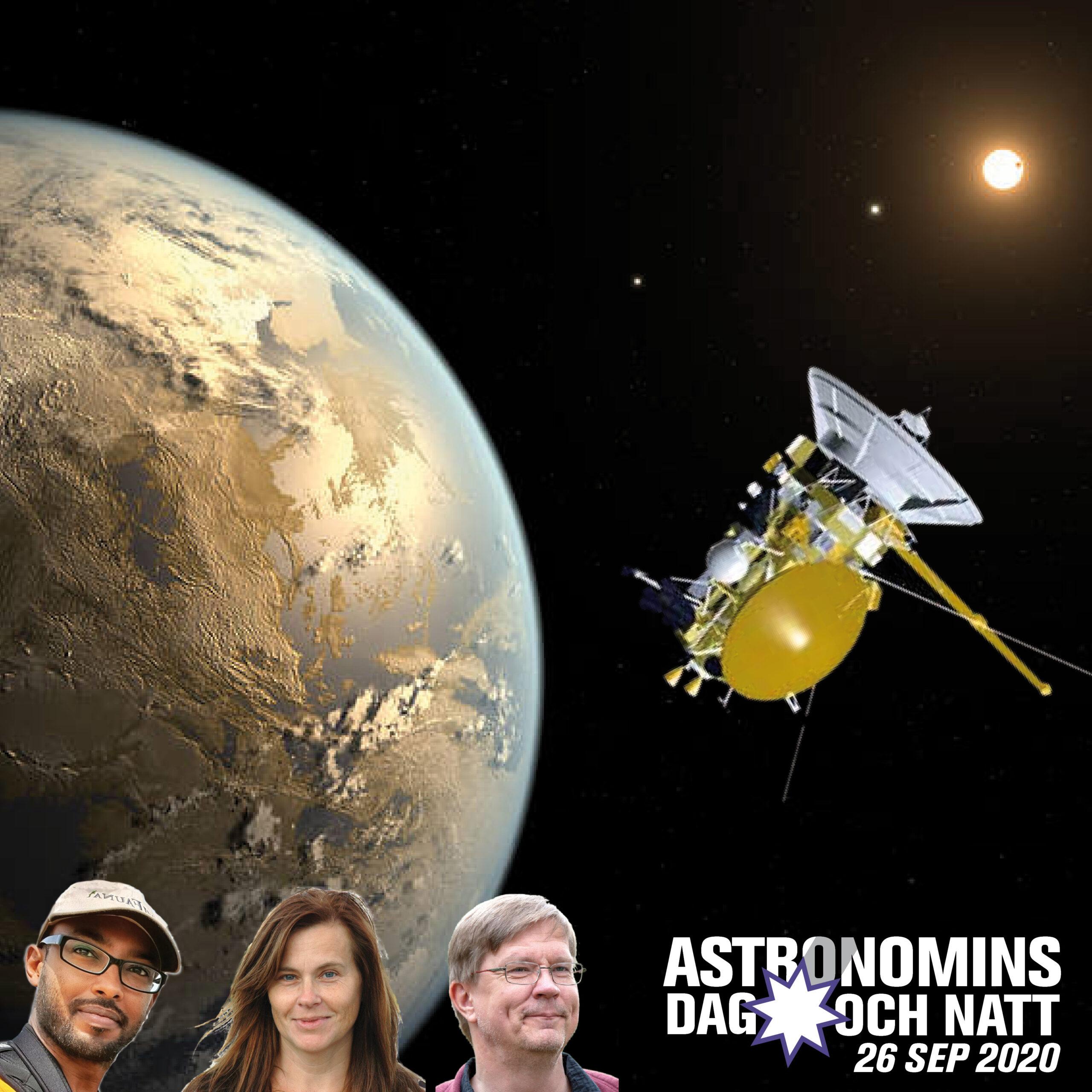 Montage. Bilder: NASA (Cassini); NASA Ames/JPL/T. Pyle (exoplanet Kepler-186f)