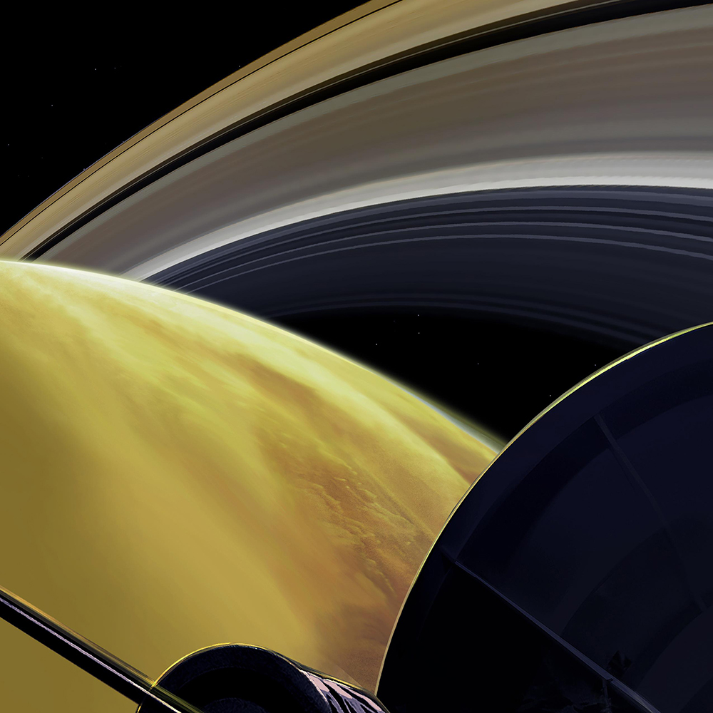 Saturnus från Cassini. Illustration: NASA/JPL-Caltech