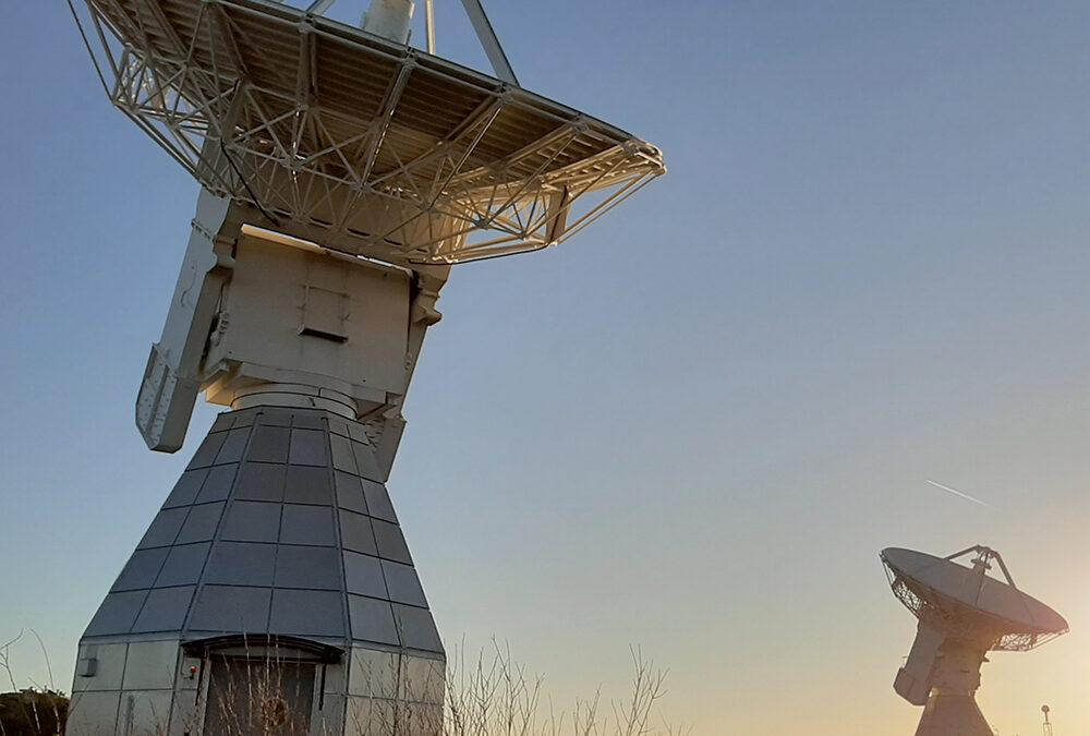 Flyg över Onsala rymdobservatorium